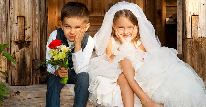 Robe enfant pour le cortège de votre mariage